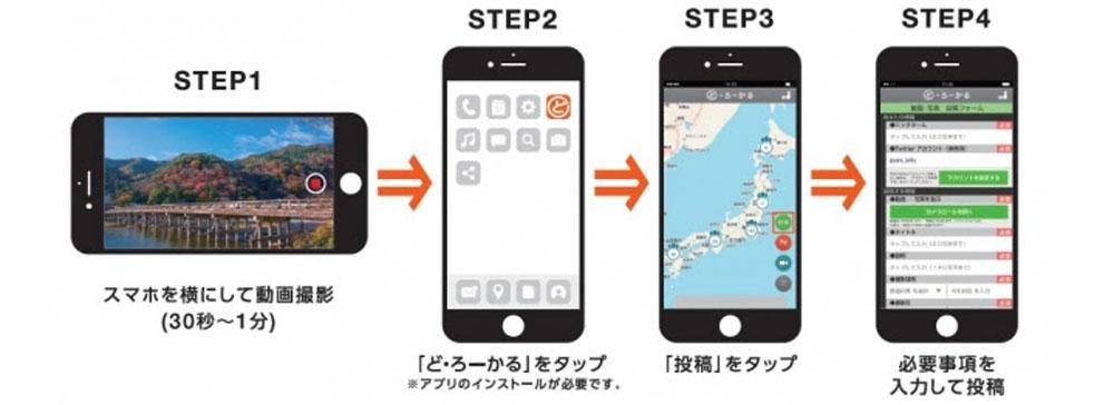 地域情報アプリ「ど・ろーかる」に動画投稿機能が追加