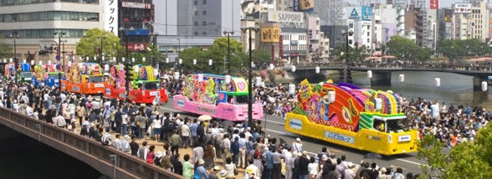 J:COM「博多どんたく港まつり」パレードを「ど・ろーかる」でんライブ配信