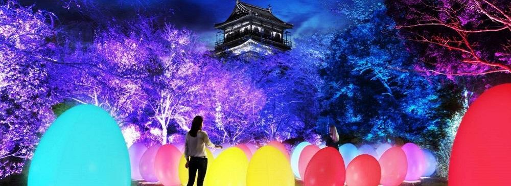 RCCテレビ、60周年を記念して「チームラボ 広島城 光の祭」開催