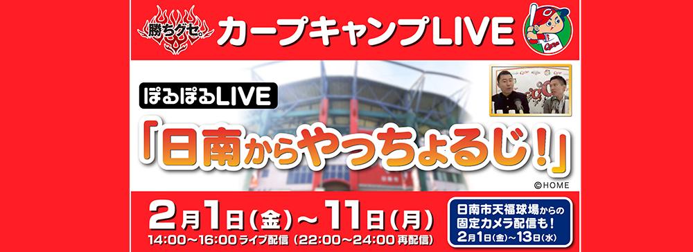 広島ホームテレビ、カープ日南キャンプをライブ配信