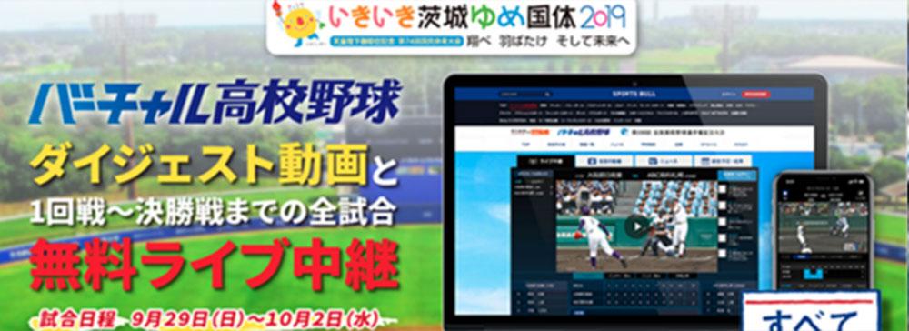 「バーチャル高校野球」いきいき茨城ゆめ国体・高校硬式野球の全11試合をライブ中継