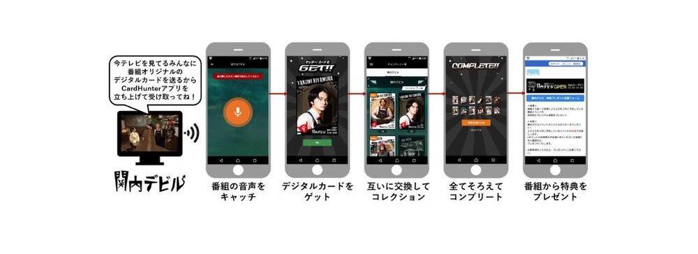 テレビ番組からデジタルコンテンツを配布できるスマホアプリ「Card Hunter」12月に技術検証